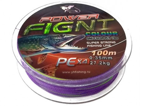 Шнур Power Fignt 0.12 мм - 100 м (Multicolor)