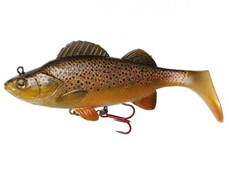 Приманка DAM EFFZETT PERCH PADDLE TAIL (14 cм) - BROWN TROUT (60203)