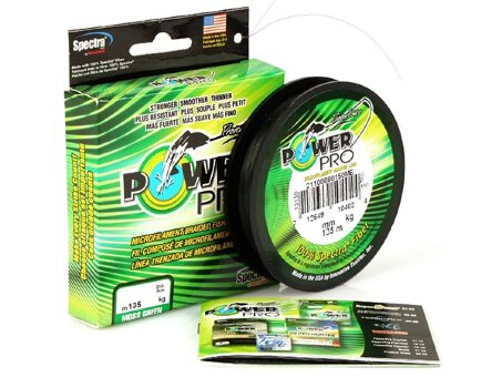 Плетеный шнур Power Pro Moss Green - 0.13 мм, 275 м (зеленый)